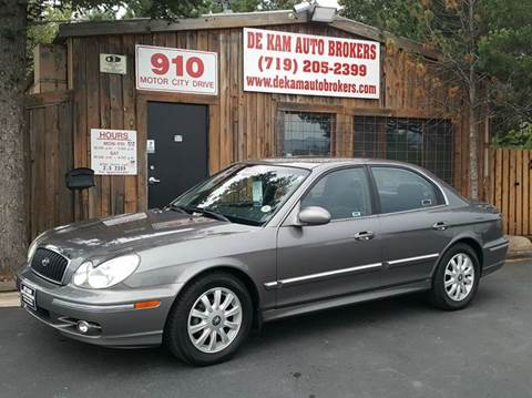 2003 Hyundai Sonata for sale at De Kam Auto Brokers in Colorado Springs CO