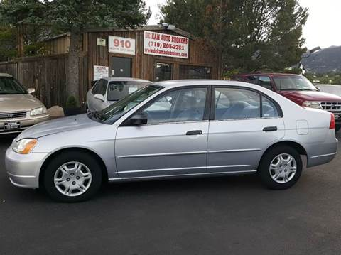 2001 Honda Civic for sale at De Kam Auto Brokers in Colorado Springs CO