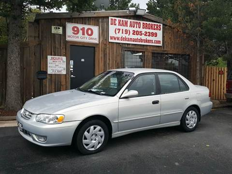 2002 Toyota Corolla for sale at De Kam Auto Brokers in Colorado Springs CO