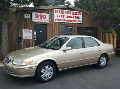 2000 Toyota Camry for sale at De Kam Auto Brokers in Colorado Springs CO
