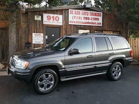 2004 Jeep Grand Cherokee for sale at De Kam Auto Brokers in Colorado Springs CO