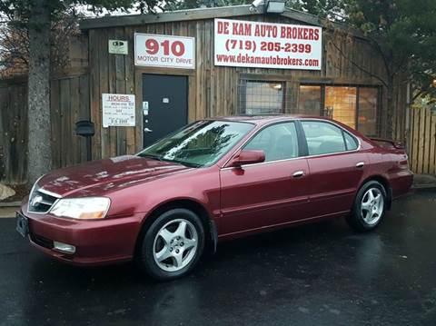 2003 Acura TL for sale at De Kam Auto Brokers in Colorado Springs CO