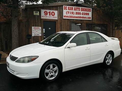 2004 Toyota Camry for sale at De Kam Auto Brokers in Colorado Springs CO