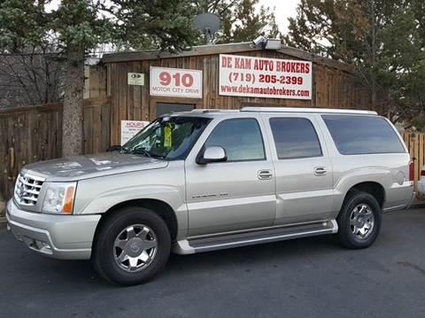 2005 Cadillac Escalade ESV for sale at De Kam Auto Brokers in Colorado Springs CO