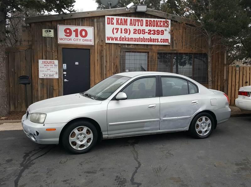 2003 Hyundai Elantra for sale at De Kam Auto Brokers in Colorado Springs CO