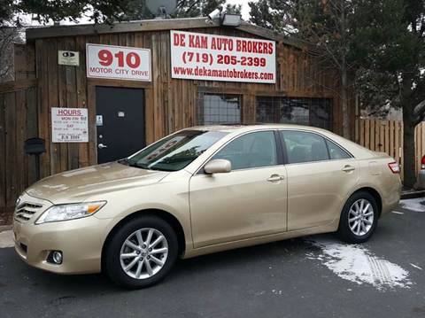 2010 Toyota Camry for sale at De Kam Auto Brokers in Colorado Springs CO