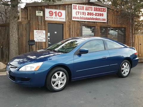 2005 Honda Accord for sale at De Kam Auto Brokers in Colorado Springs CO