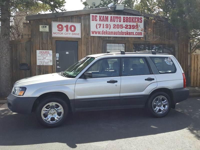 2005 Subaru Forester for sale at De Kam Auto Brokers in Colorado Springs CO