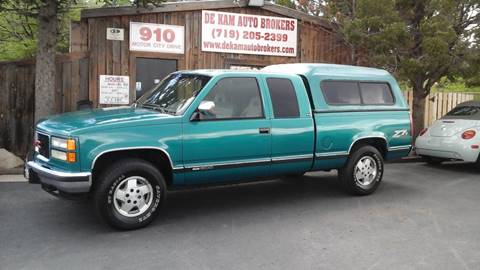 1994 GMC Sierra 1500 for sale at De Kam Auto Brokers in Colorado Springs CO
