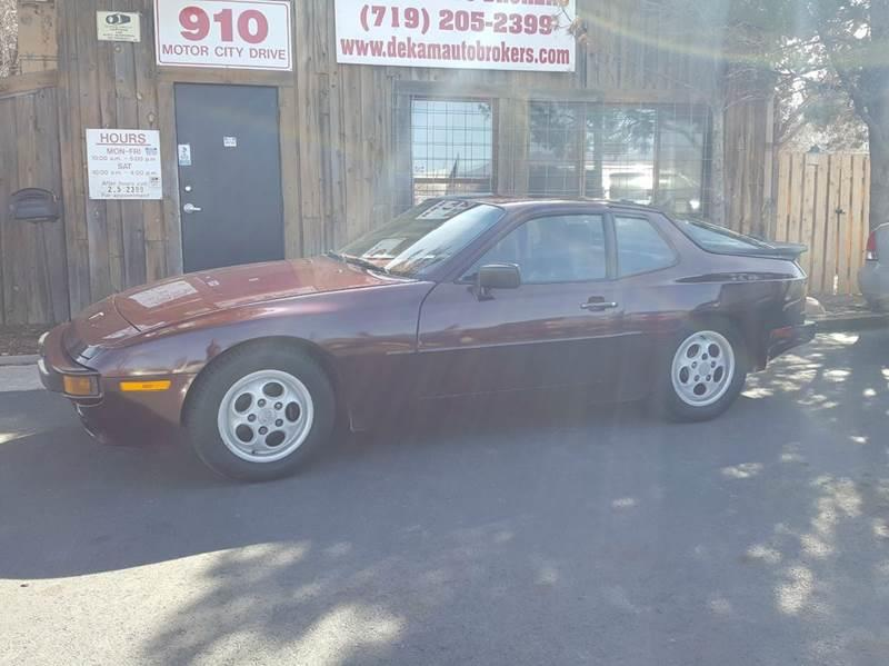 1987 Porsche 944 for sale at De Kam Auto Brokers in Colorado Springs CO