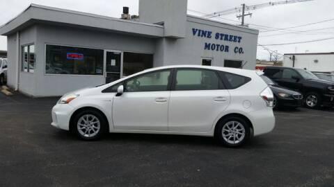 2013 Toyota Prius v for sale at VINE STREET MOTOR CO in Urbana IL