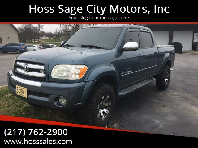 2006 Toyota Tundra For Sale At Hoss Sage City Motors, Inc In Monticello IL
