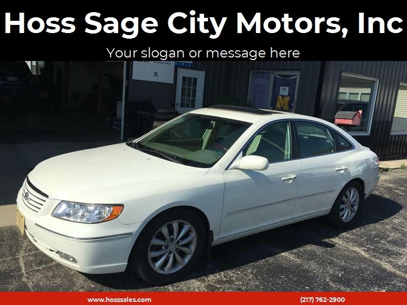 2006 Hyundai Azera For Sale At Hoss Sage City Motors, Inc In Monticello IL