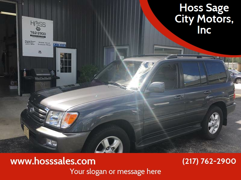 2003 Toyota Land Cruiser For Sale At Hoss Sage City Motors, Inc In  Monticello IL