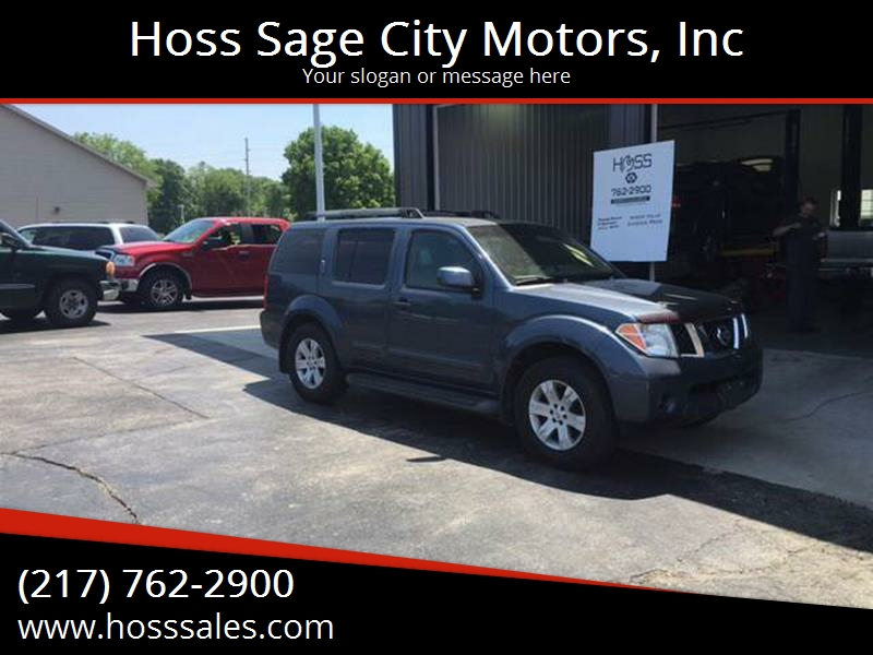 2005 Nissan Pathfinder For Sale At Hoss Sage City Motors, Inc In Monticello  IL