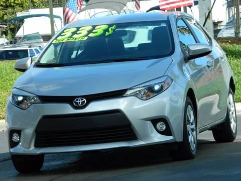 2014 Toyota Corolla for sale in Davie, FL