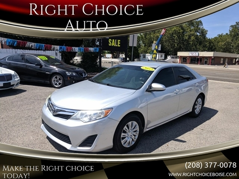 Right Choice Auto >> 2012 Toyota Camry For Sale In Boise Id