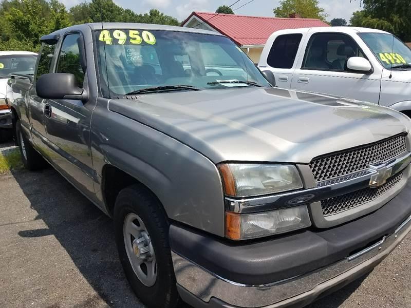 2003 Chevrolet Silverado 1500 4dr Extended Cab Work Truck Rwd SB - Mount Carmel TN