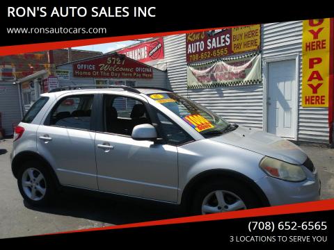 2007 Suzuki SX4 Crossover for sale at RON'S AUTO SALES INC in Cicero IL