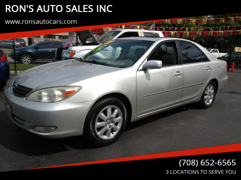 2003 Toyota Camry for sale at RON'S AUTO SALES INC in Cicero IL