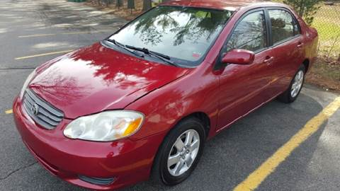 2004 Toyota Corolla for sale at AMERI-CAR & TRUCK SALES INC in Haskell NJ