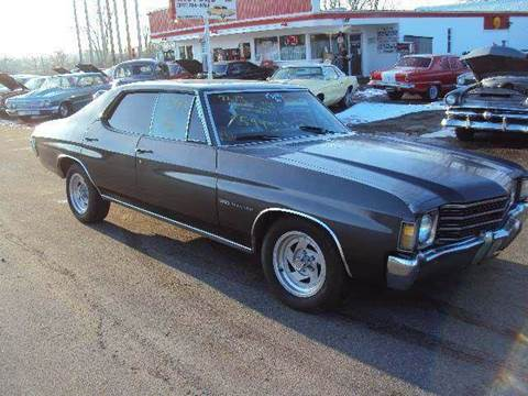 1972 Chevrolet Chevelle for sale at Marshall Motors Classics in Jackson Michigan MI