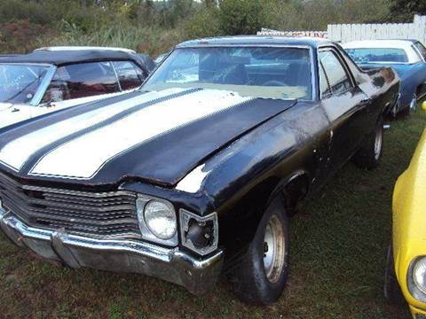 1972 Chevrolet El Camino for sale at Marshall Motors Classics in Jackson Michigan MI