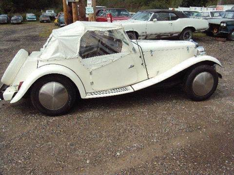 1952 MG roaster for sale at Marshall Motors Classics in Jackson Michigan MI