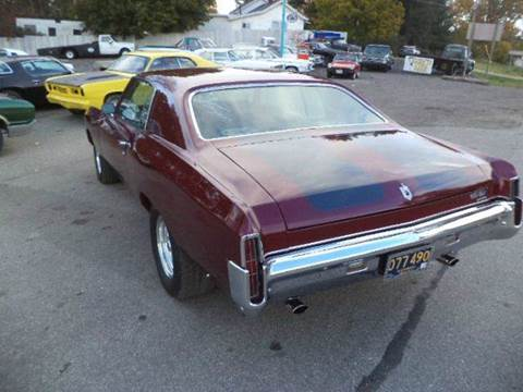1971 Chevrolet Monte Carlo for sale at Marshall Motors Classics in Jackson Michigan MI
