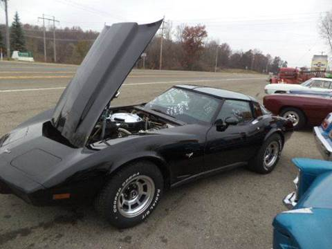 1979 Chevrolet Corvette for sale at Marshall Motors Classics in Jackson Michigan MI