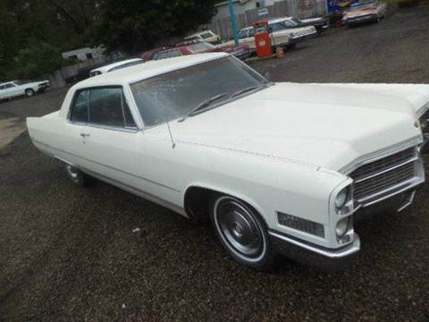 1966 Cadillac DeVille for sale at Marshall Motors Classics in Jackson Michigan MI