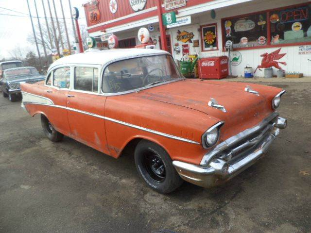 1957 Chevrolet Bel Air for sale at Marshall Motors Classics in Jackson MI