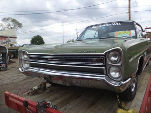 1968 Plymouth Sport Fury for sale at Marshall Motors Classics in Jackson Michigan MI