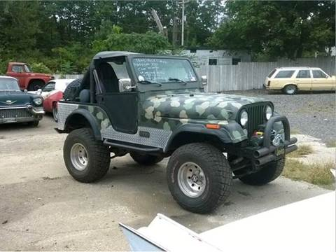1977 Jeep CJ-5 for sale at Marshall Motors Classics in Jackson Michigan MI