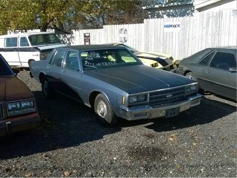 1984 Chevrolet Impala for sale at Marshall Motors Classics in Jackson Michigan MI