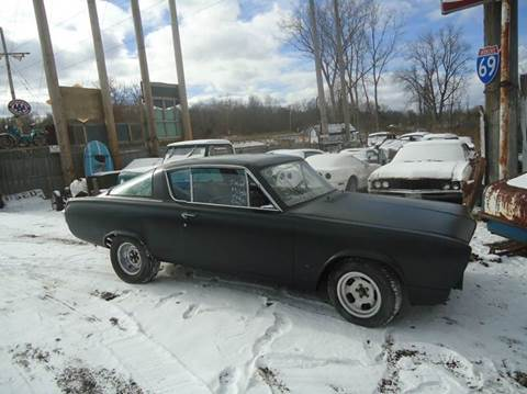 1965 Plymouth Barracuda for sale at Marshall Motors Classics in Jackson Michigan MI