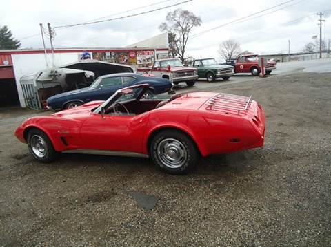 1975 Chevrolet Corvette for sale at Marshall Motors Classics in Jackson Michigan MI