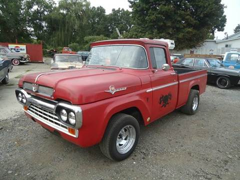1960 Ford F-100 for sale at Marshall Motors Classics in Jackson Michigan MI