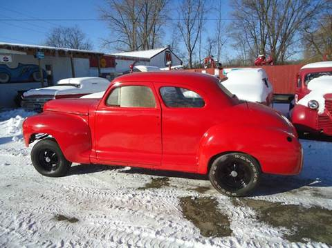 1948 Plymouth Deluxe for sale at Marshall Motors Classics in Jackson Michigan MI