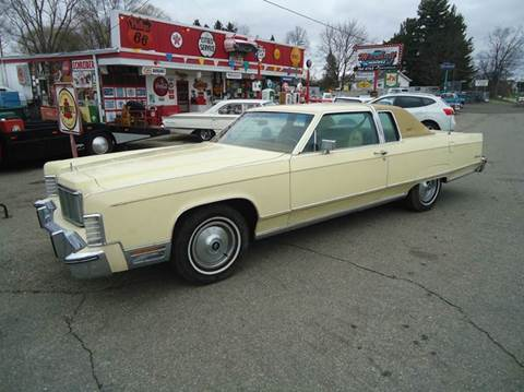 1976 Lincoln Town Car for sale at Marshall Motors Classics in Jackson Michigan MI