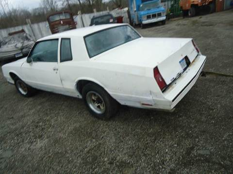 1984 Chevrolet SS for sale at Marshall Motors Classics in Jackson Michigan MI