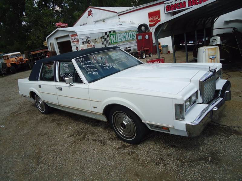 1987 Lincoln Continental for sale at Marshall Motors Classics in Jackson MI