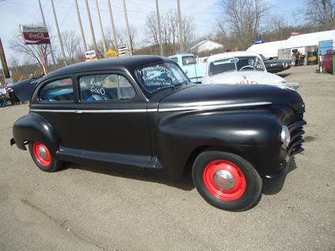 1947 Plymouth Deluxe for sale at Marshall Motors Classics in Jackson Michigan MI