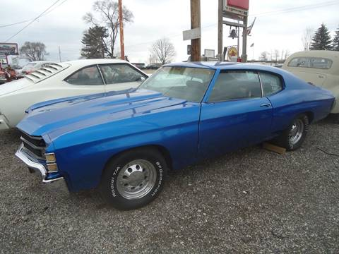 1972 Chevrolet Chevelle Malibu for sale at Marshall Motors Classics in Jackson Michigan MI
