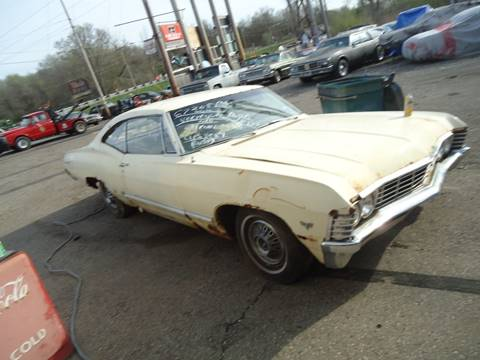 1967 Chevrolet Impala for sale at Marshall Motors Classics in Jackson Michigan MI