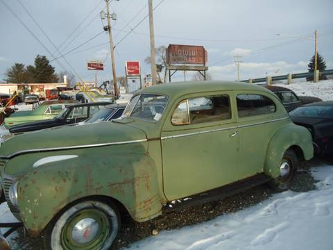 1941 Plymouth Deluxe for sale at Marshall Motors Classics in Jackson Michigan MI
