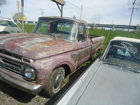 1966 Ford F-100 for sale at Marshall Motors Classics in Jackson Michigan MI