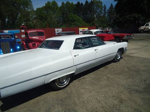 1968 Cadillac DeVille for sale at Marshall Motors Classics in Jackson Michigan MI