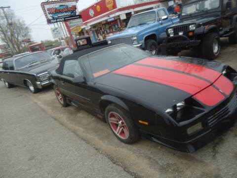 1991 Chevrolet Camaro for sale at Marshall Motors Classics in Jackson Michigan MI