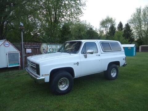 1986 Chevrolet Blazer for sale at Marshall Motors Classics in Jackson Michigan MI